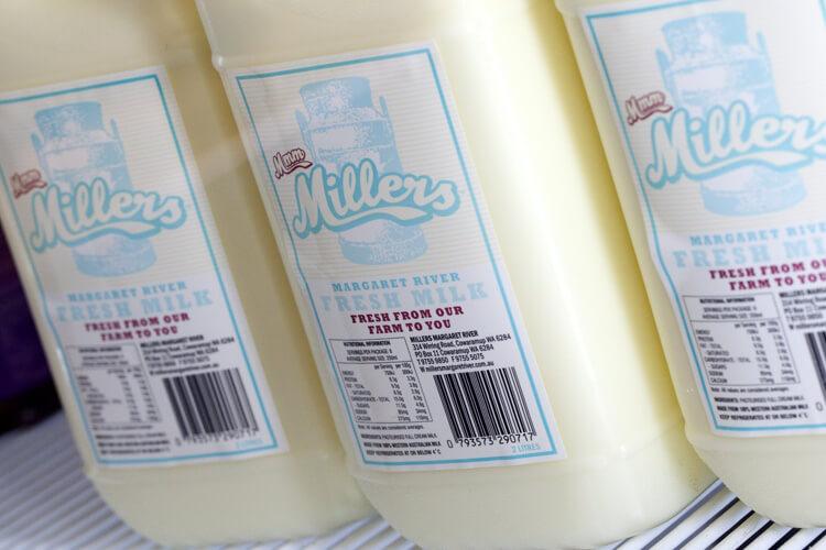 Millers Milk Labels