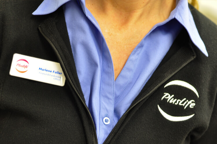 PlusLife Uniforms and Name Badge