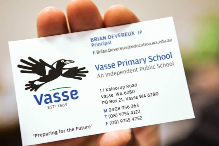 Vasse Primary School Business Card
