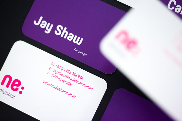 ne:Solutions Jay Shaw Business Card