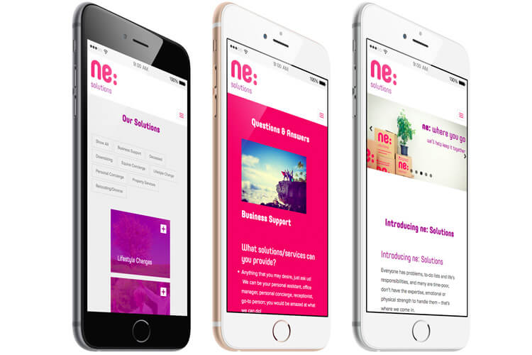 ne:Solution Mobile Compatible Website