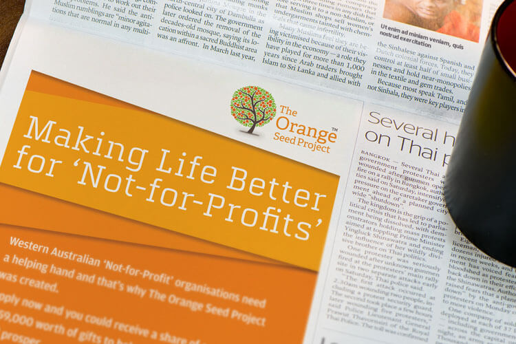 The Orange Seed Project Press Advertisement