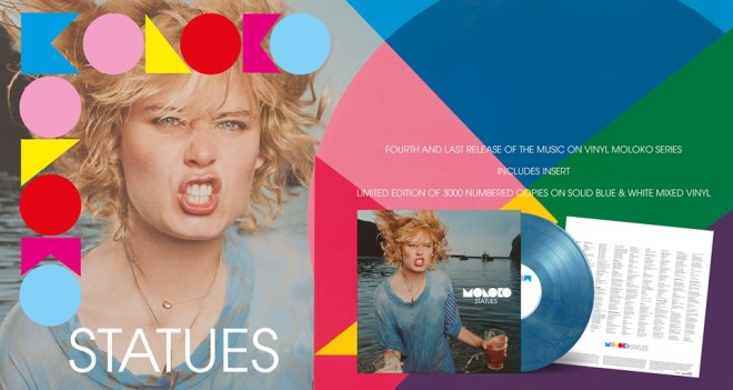 Moloko's Statues Limited Edition Blue & White Mixed Vinyl