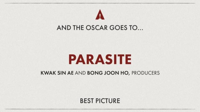 PARASITE - Best Picture