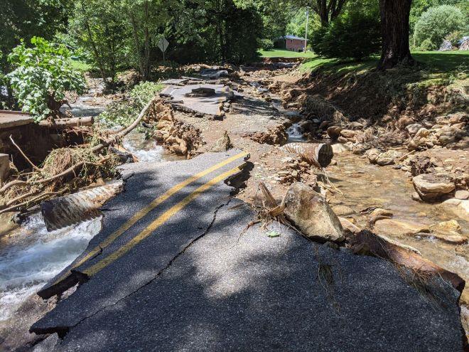 Cold Creek Flood Damage