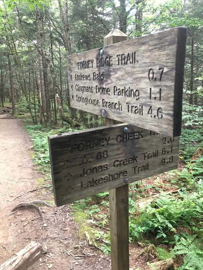Forney Creek Trail Sign