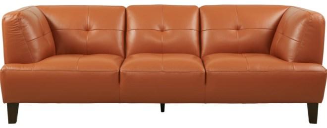 Villa Capri Orange Leather Sofa