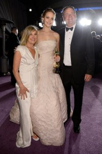 Jennifer Lawrence with her parents