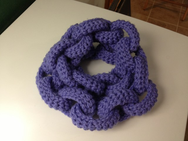 Chain Link Scarf Doubled Up