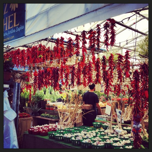 Chillies & Garlic at Marché Jean Talon