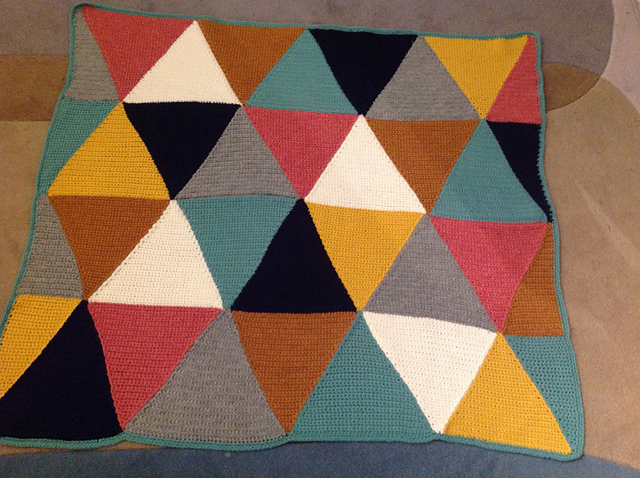 Trendy Triangle Baby Blanket Thebraininjane