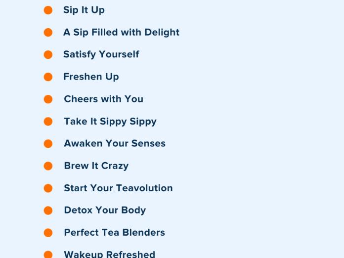 tea company slogans
