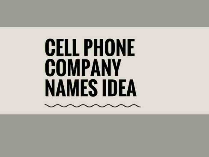 cell phone company names