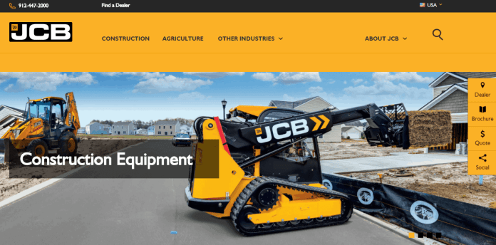 jcb yellow website