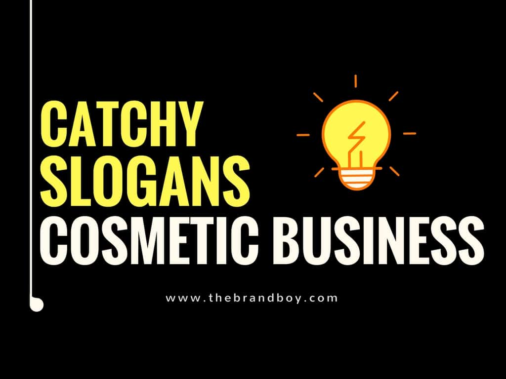 74 Catchy Cosmetic Business Slogans Ideas [Infographic]