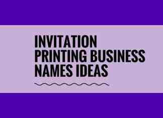 invitation printing business names