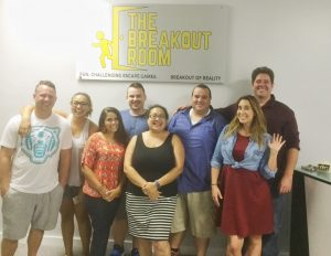 Group photo after escape room in Downtown Wilmington