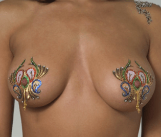Crystal Body Art Mardi Gras Pasties