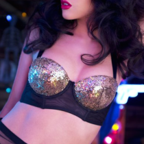 Playful Promises Peek & Beau - Tallulah Ruched Gold Sequin Bra