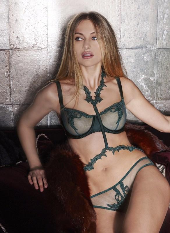 dark green lingerie