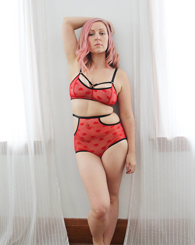 heart-themed lingerie
