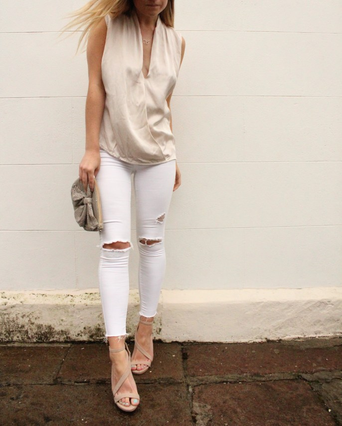White and Gold Beautiful outfit style