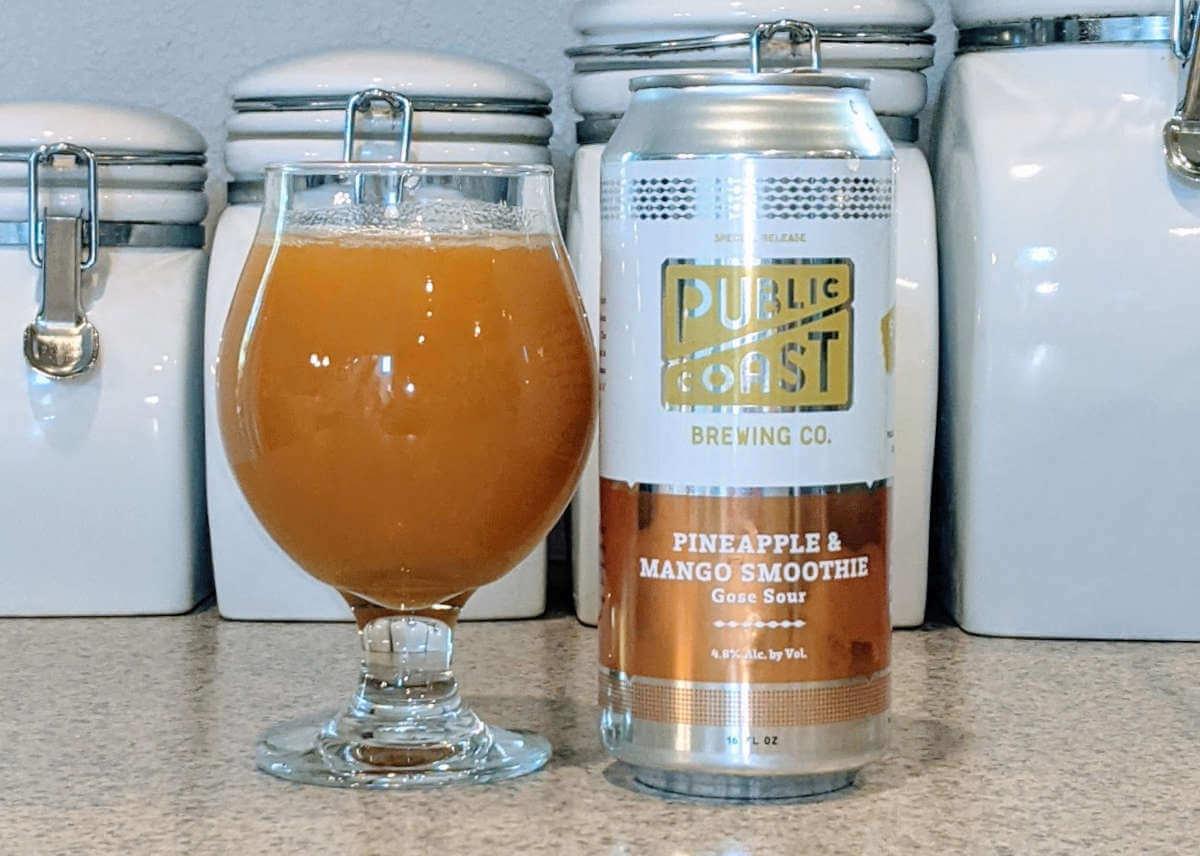 Public Coast Brewing Pineapple & Mango Smoothie Gose Sour – The Brew Site