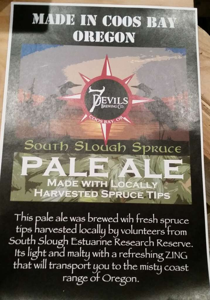 7 Devils Brewing South Slough Spruce Ale info sheet