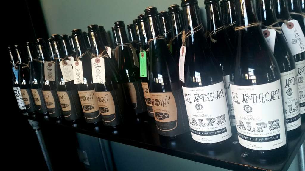 The Ale Apothecary tasting room - bottles