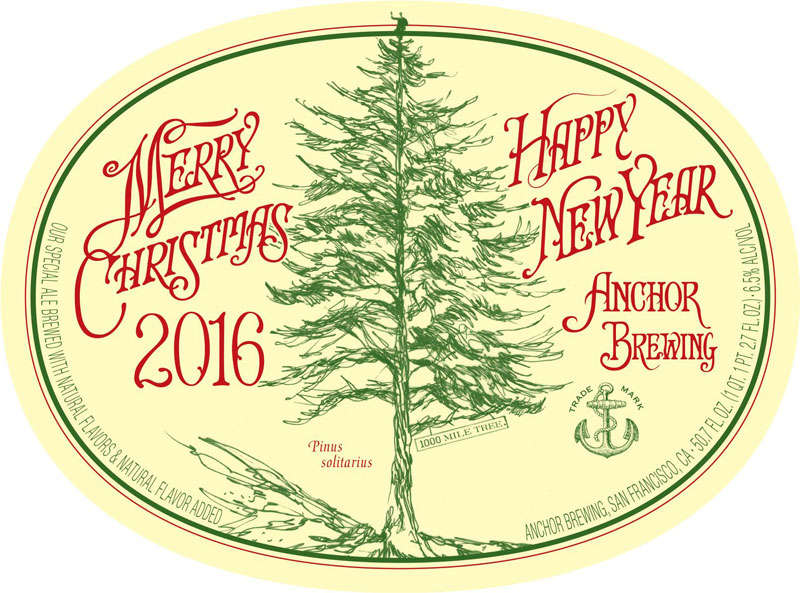 Anchor Christmas Ale 2016 label