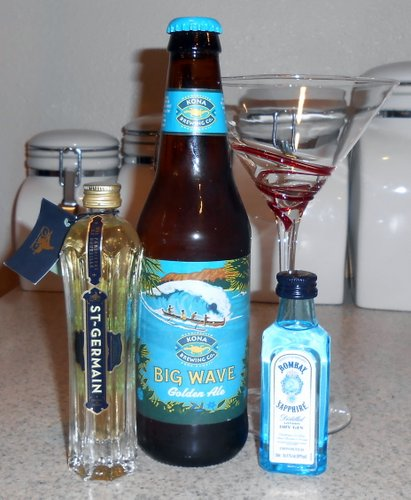Big Wave Golden Ale and beer cocktail fixings