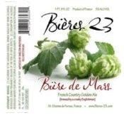 Bières23 Bière de Mars label