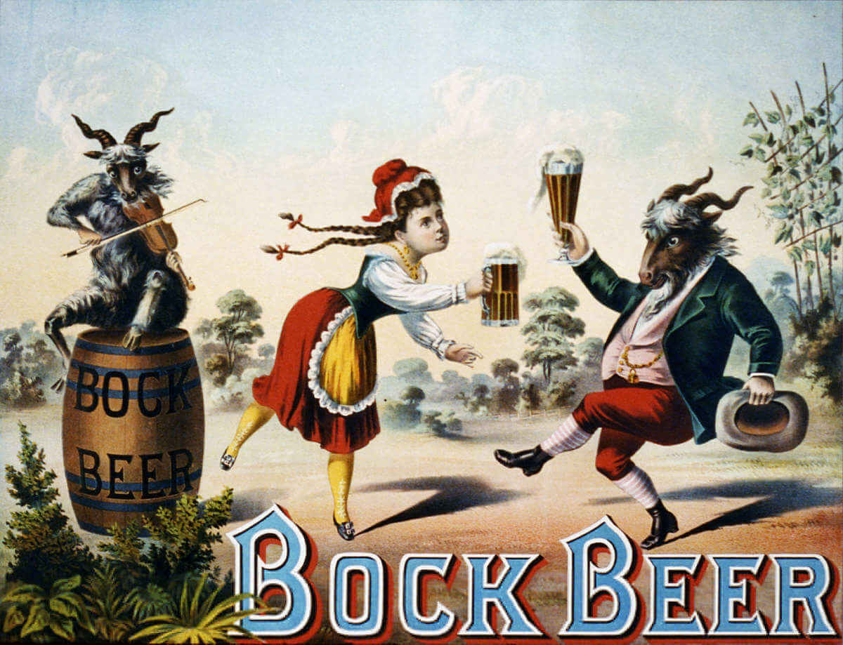 Old Bock Beer advertisement