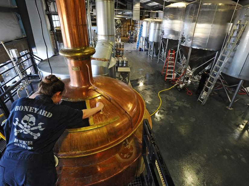 Boneyard Brewing's copper kettle