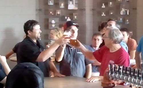 Crux Pale Ale tapping