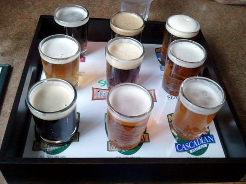 Mt. Hood Brewing sampler