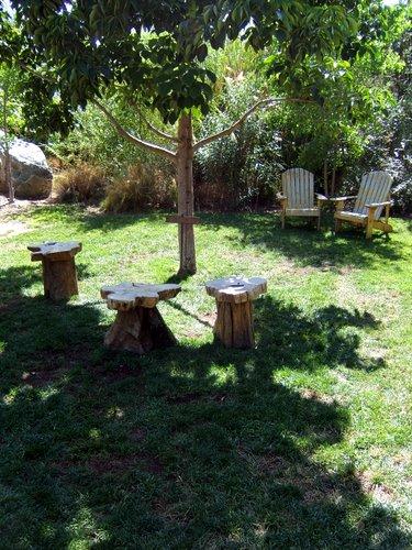 Stone Brewing garden seating