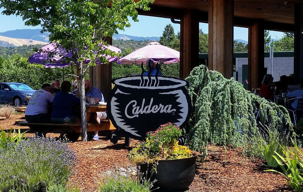 Caldera Brewing - production brewing garden sign