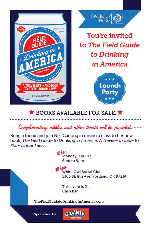 Field Guide to Drinking in America launch party