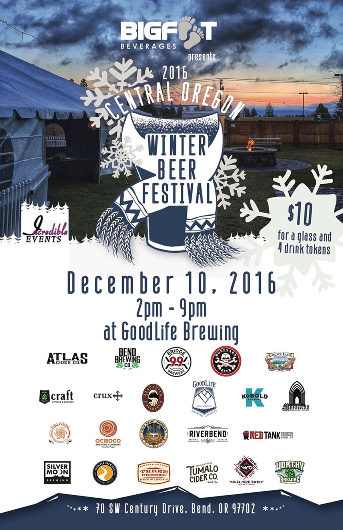 Central Oregon Winter Beer Fest 2016 poster