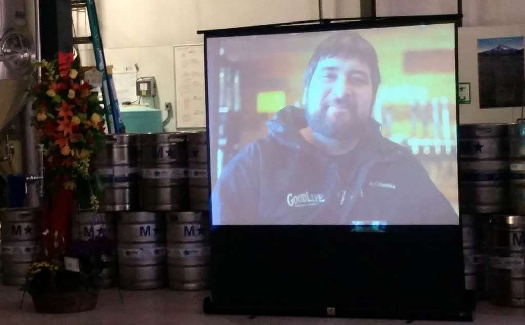 Curt on the big screen