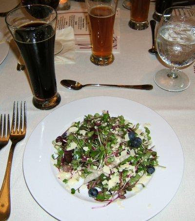 Deschutes Chocolate Beer Pairing Dinner: salad