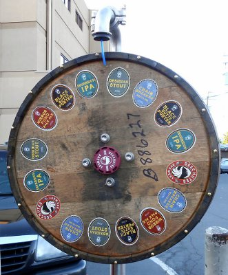 Deschutes Brewery prize wheel