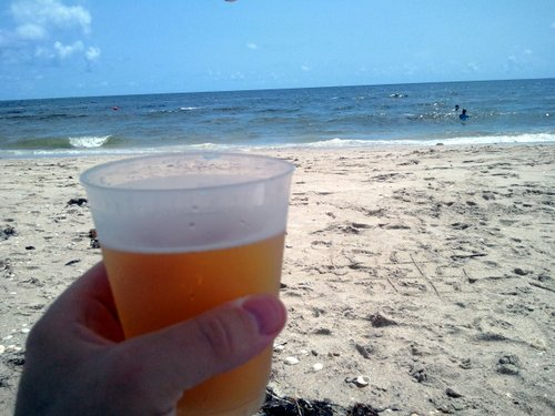 Stella Artois on the beach in Florida