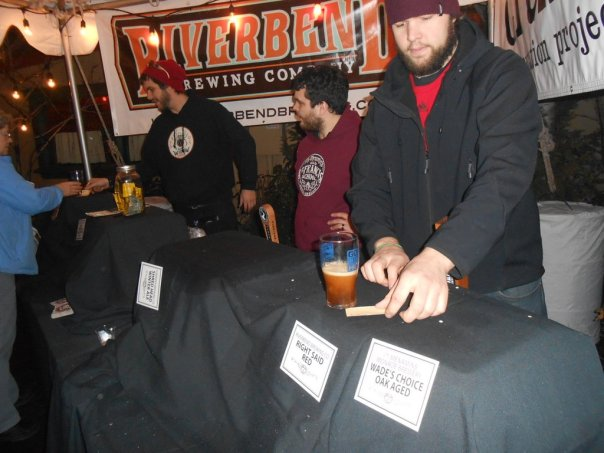 Beers pouring at the High Gravity Extravaganza