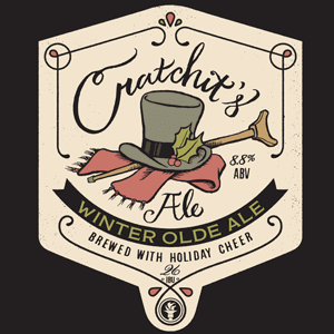 Indiana City Brewing Cratchit's Ale label