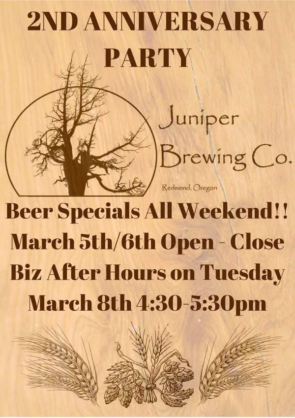 Juniper Brewing second anniversary