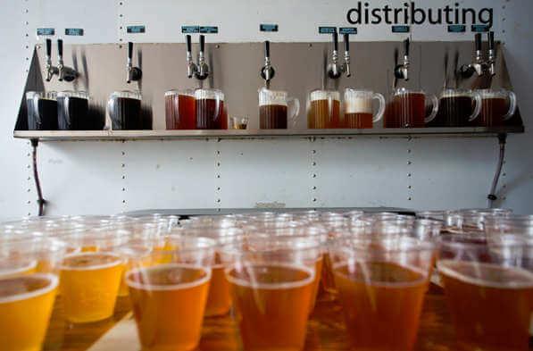 McMenamins Hillsdale Brewfest beer samples