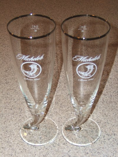 Michelob specialty glasses