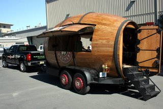 Deschutes Brewery's mobile beer barrel